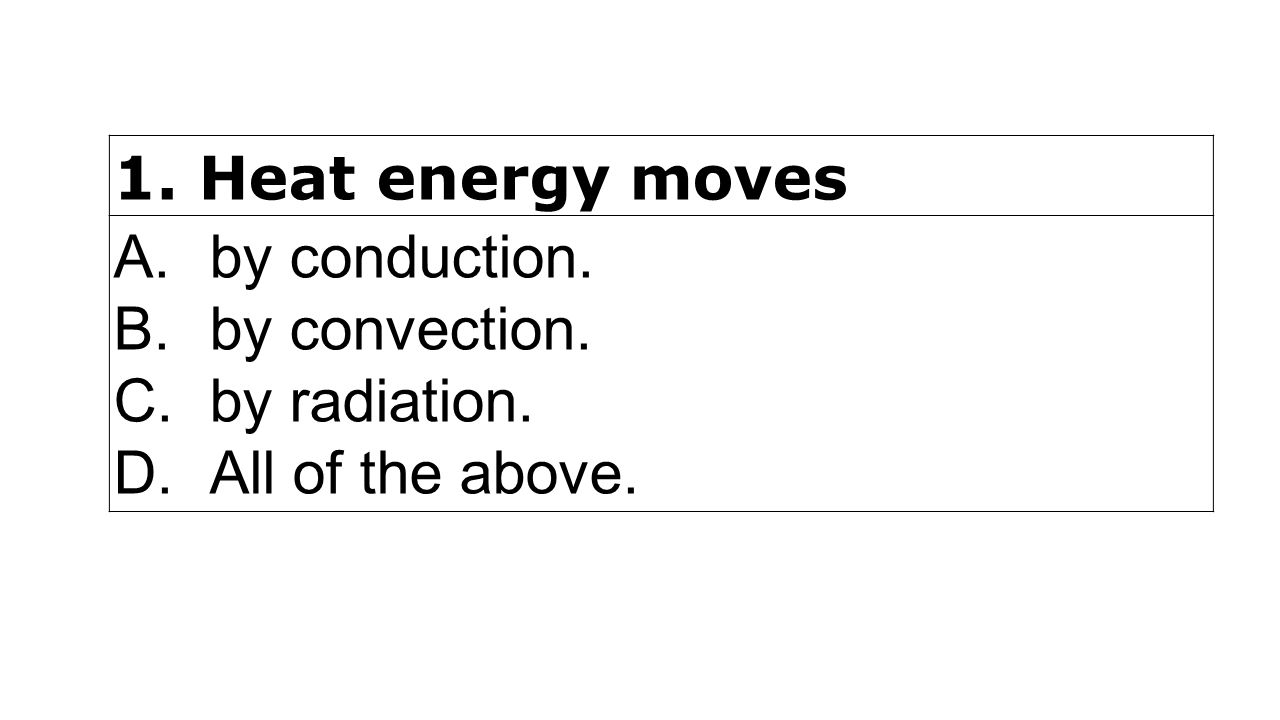 Worksheets Conduction Convection Radiation Worksheet bill nye heat video questions login answer with ppt energy moves a by conduction b convection c radiation d all of the above