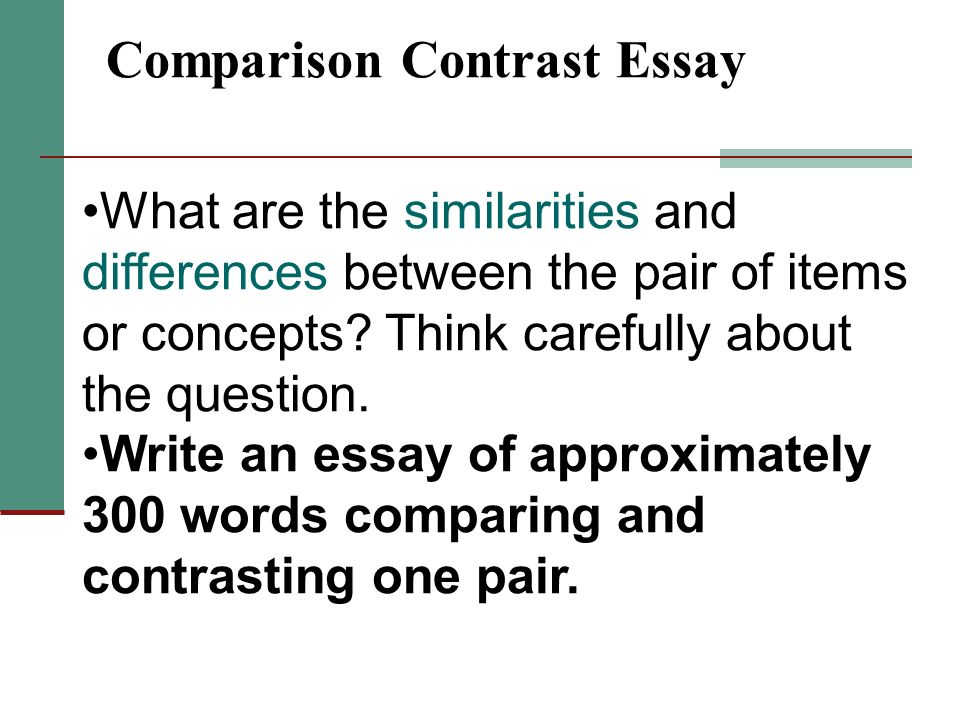 The Entire Compare And Contrast Essay