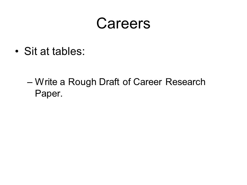 Career Essay Outline