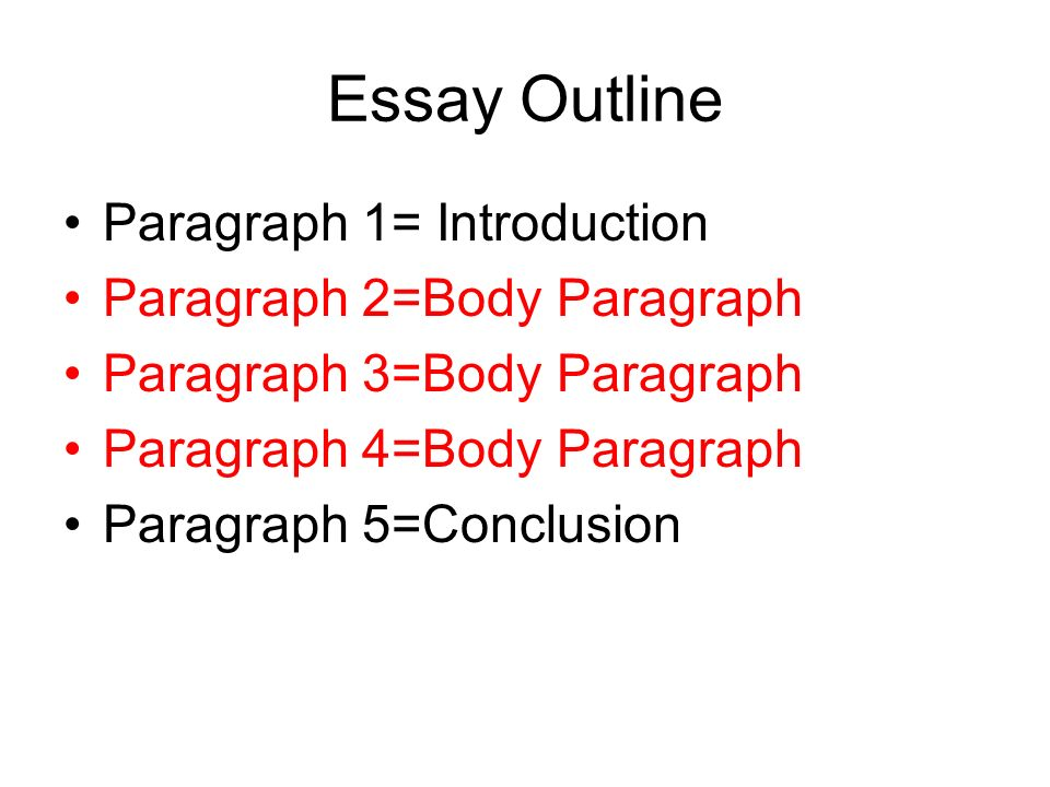 5 paragraph essay outline conclusion How to write a five paragraph essay: outline, format, structure, topics, examples of a 5 paragraph essay.