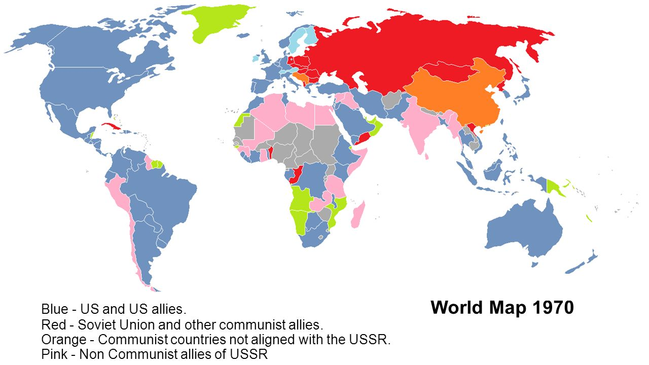 Why Would The USA Feel A Need To Get Involved In Chile A Brief - Us allies map