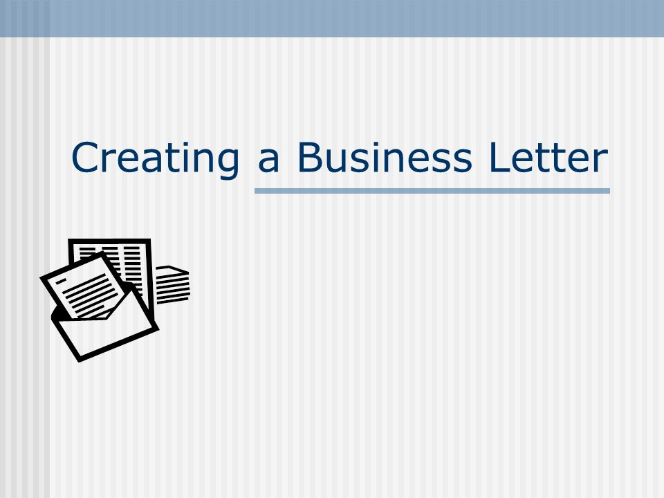 what is the proper format for a business letter