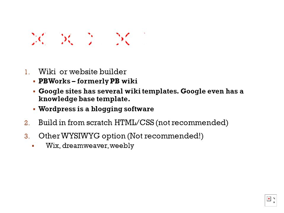 Tecm 4180 dr lam what a knowledge base is how to conduct wiki or website builder pbworks formerly pb wiki google sites has pronofoot35fo Image collections