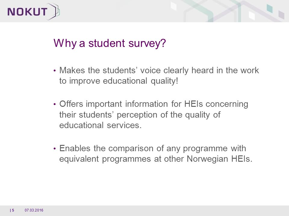 Studiebarometeret  The National Student Survey  A National