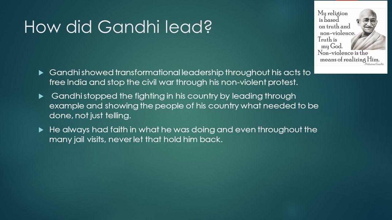 gandhi the transformational leader