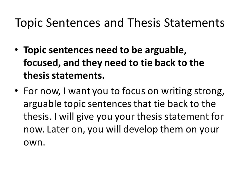 Need help!! ASAP Need to write a thesis for one of the following topics. ?