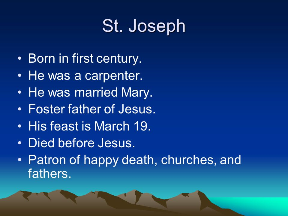 What is the story of the death of Joseph, the father of Jesus?