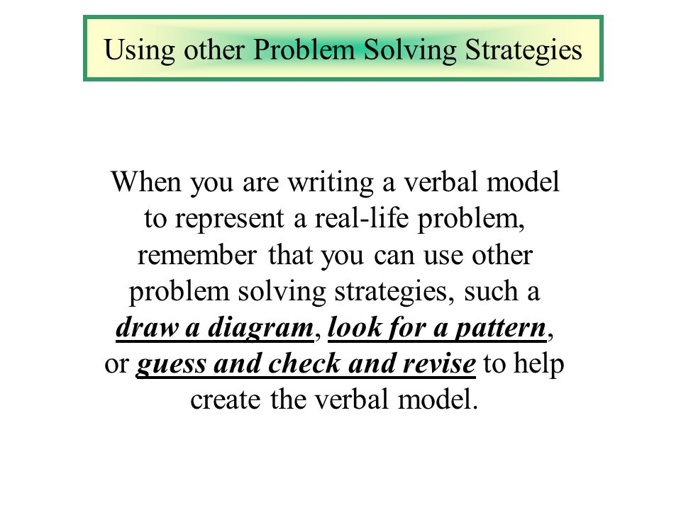 an essay on calculus and solving real life problems Every problem has a gift for you in its hands: the problem solution essay writing a problem solution essay can cause some problems itself, that is why bookwormlabcom is there for you to help.