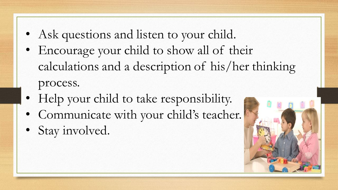 Supporting your child in mathematics grandview elementary school mr ask questions and listen to your child fandeluxe Image collections
