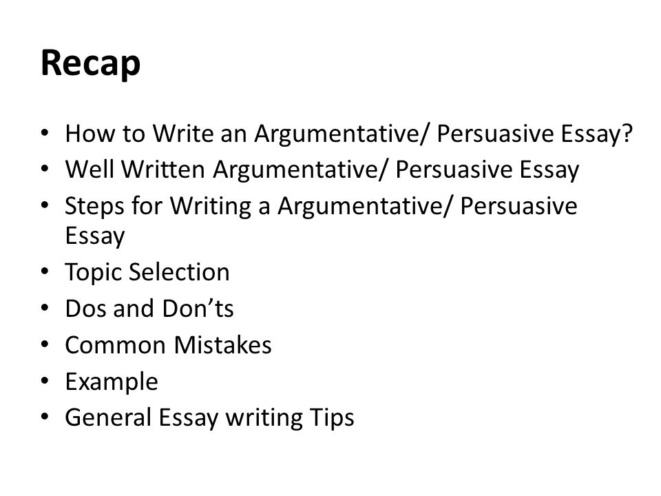 how write an argumentative essay