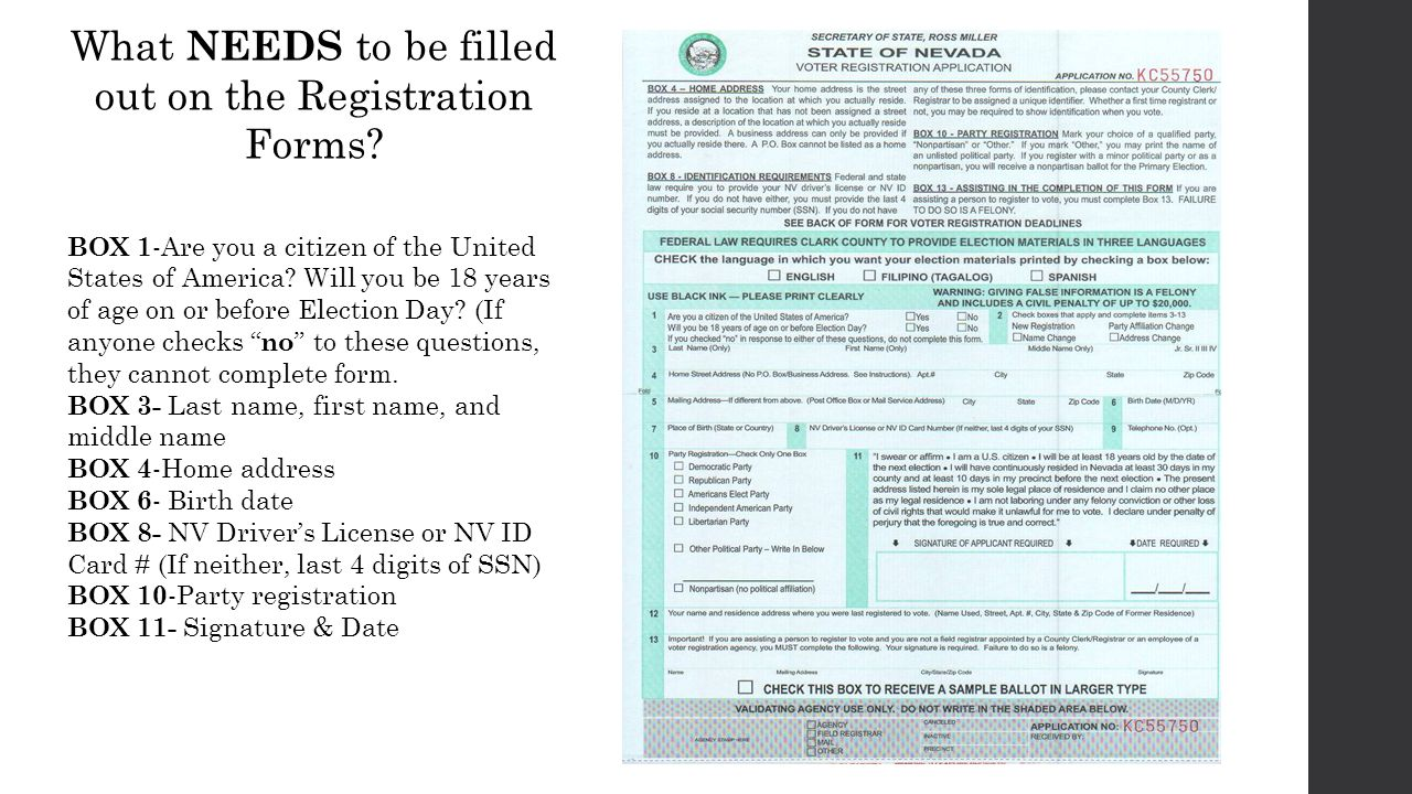 Voter Registration FAQ. Who can register? (Listed in Box 11 ...