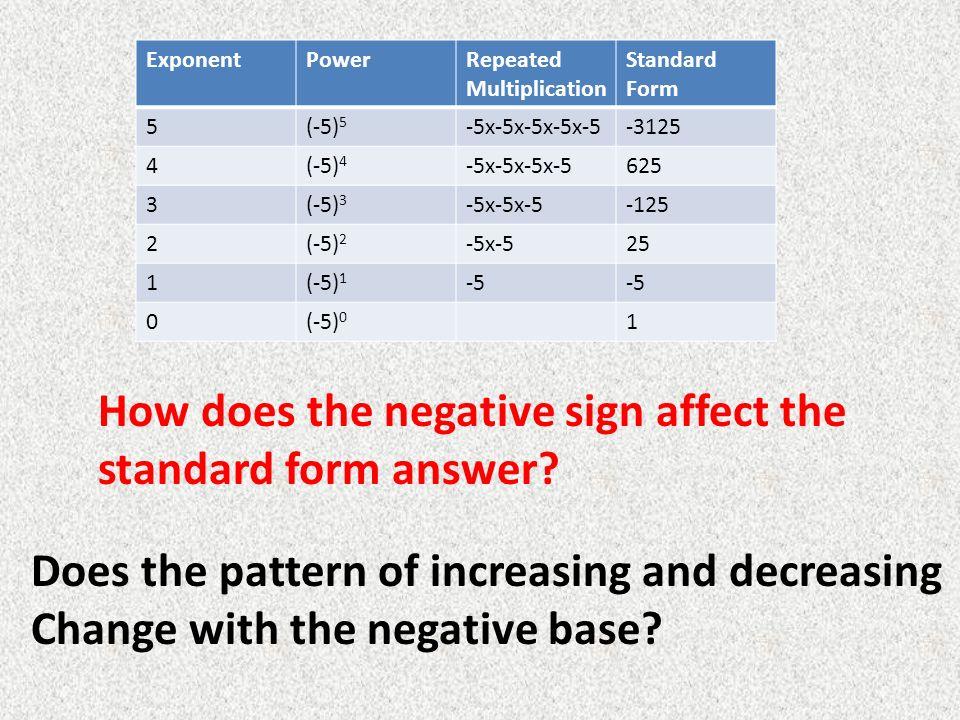 Exponents Standard Form Nurufunicaasl
