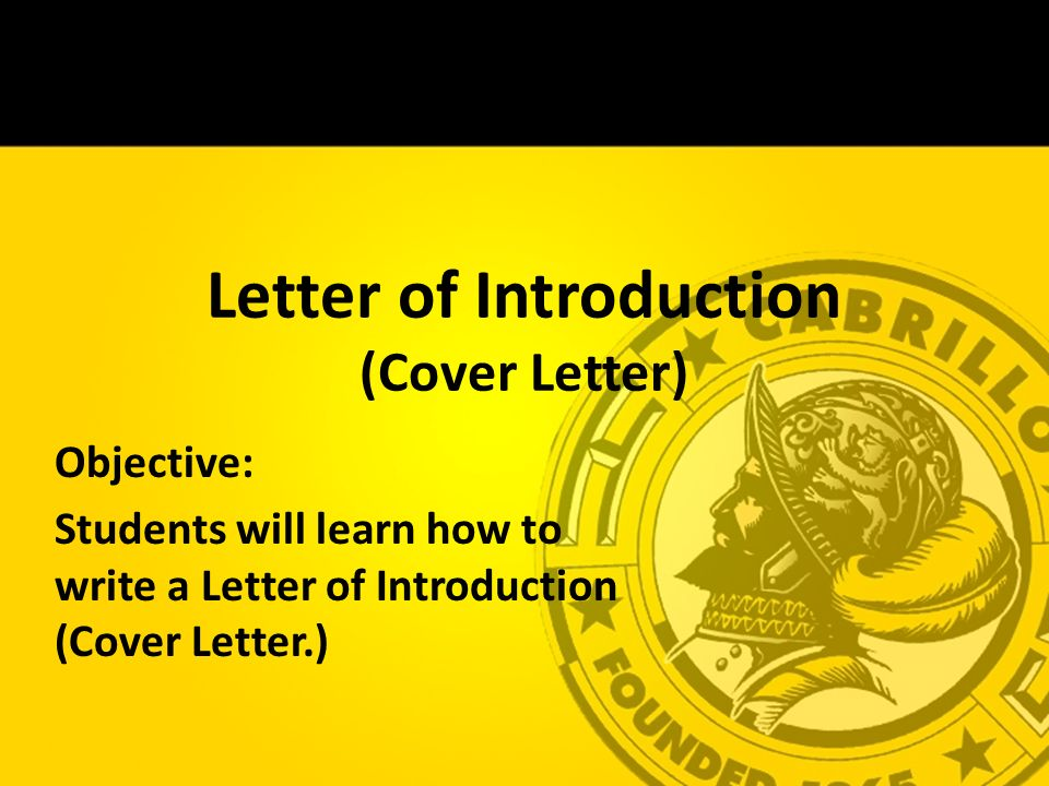 Warm Up Letter Of Introduction Cover Letter Answer In Complete