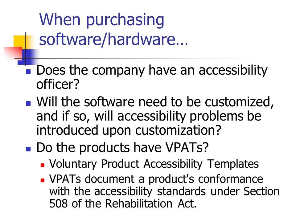 Awesome Voluntary Product Accessibility Template Elaboration ...