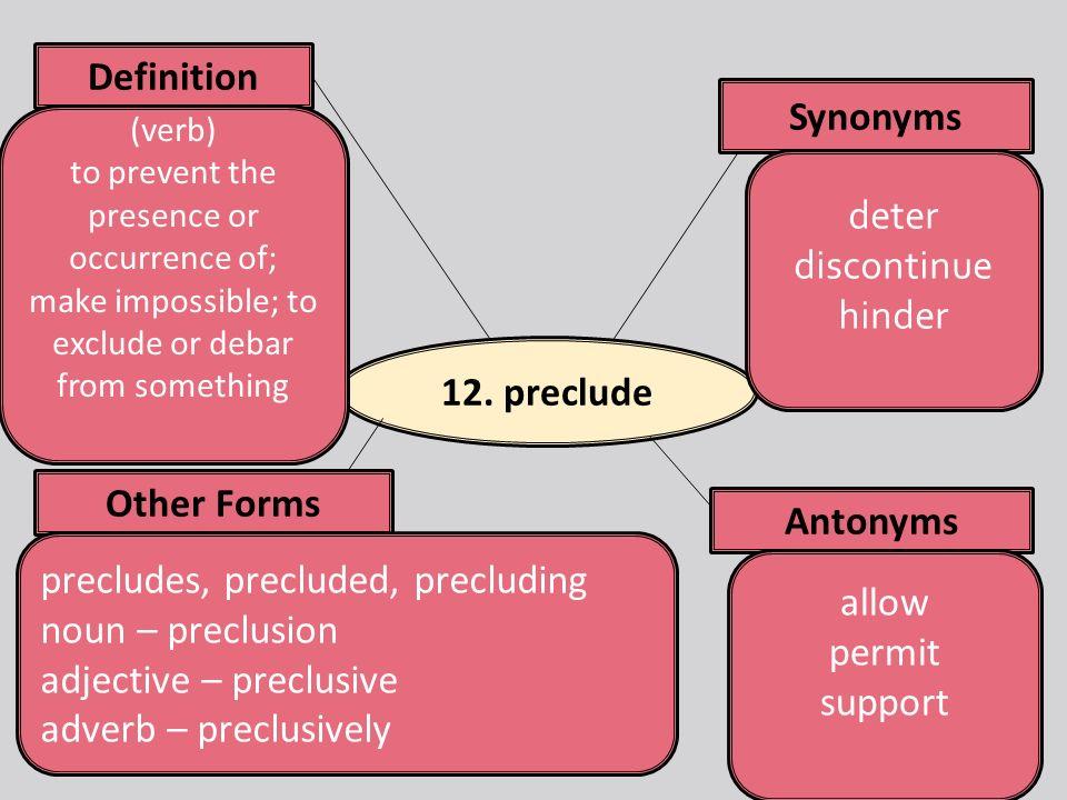 Preclude Definition
