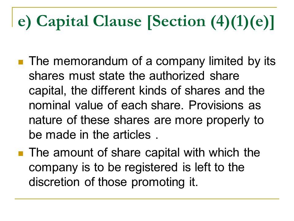 authorized share capital