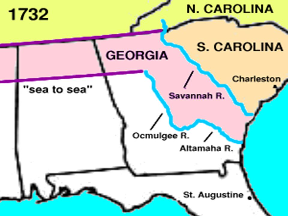 Warmup What Charter Helped To Outline Reasons For Settlements And - Georgia map savannah river