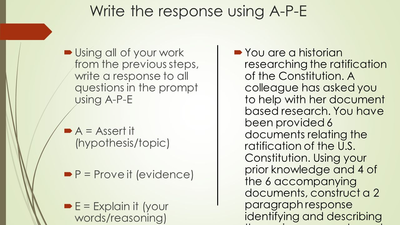 a response to a p