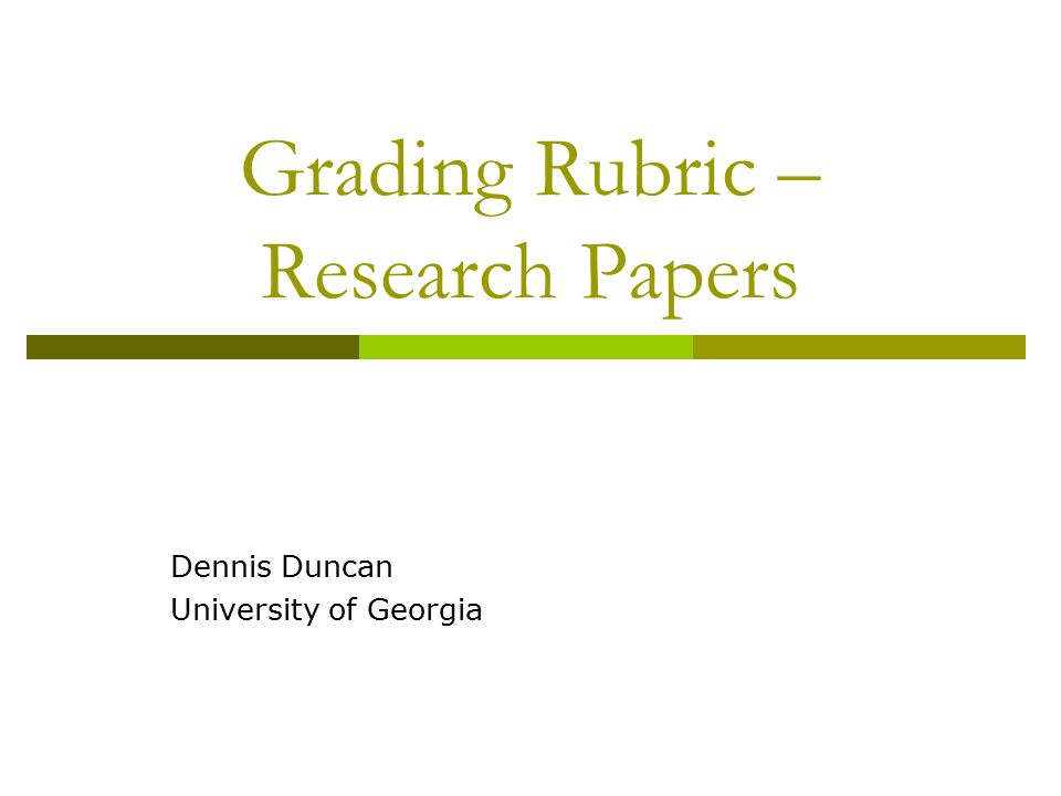 rubrics for grading research papers Read info middle school research paper writing learn how research paper rubrics can help you in learning process.