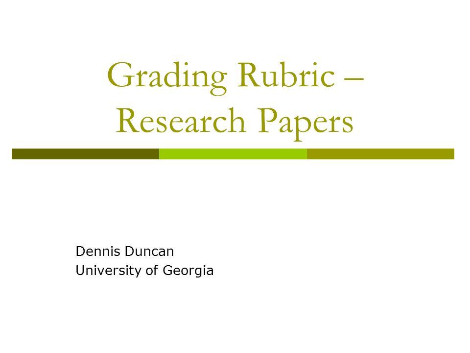research paper grading procedures