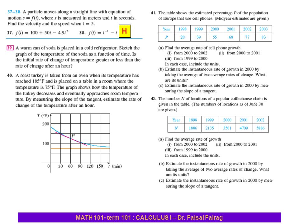 Sec 27 derivatives and rates of change example find the h ccuart Images
