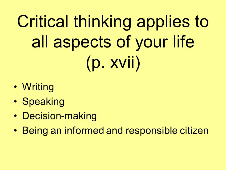 critical thinking lessons for high school students