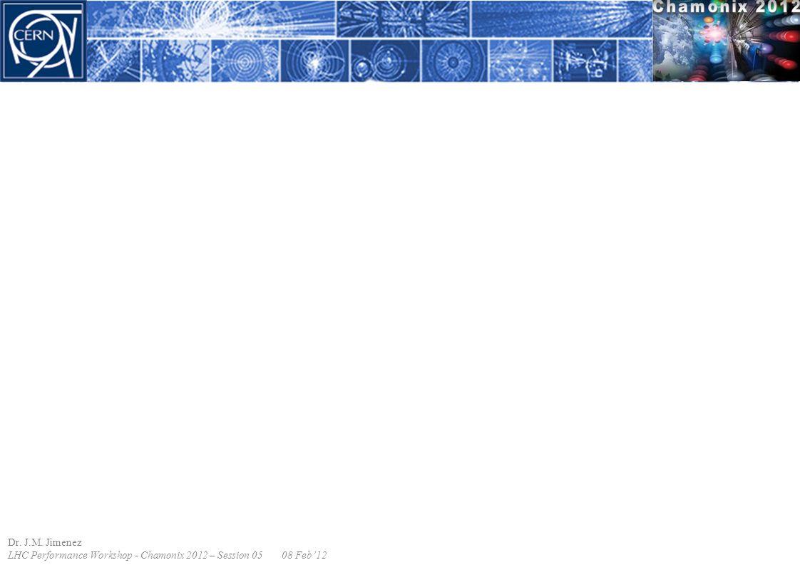 Dr. J.M. Jimenez LHC Performance Workshop - Chamonix 2012 – Session 0508 Feb'12