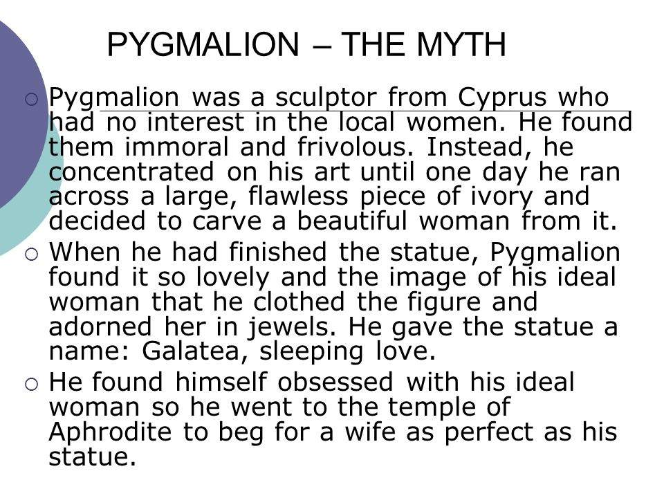 an analysis of romance in pygmalion by george bernard shaw Summary: discusses whether or not the george bernard shaw play, pygmalion, is a romanceexplores the relationship between eliza and higgins.