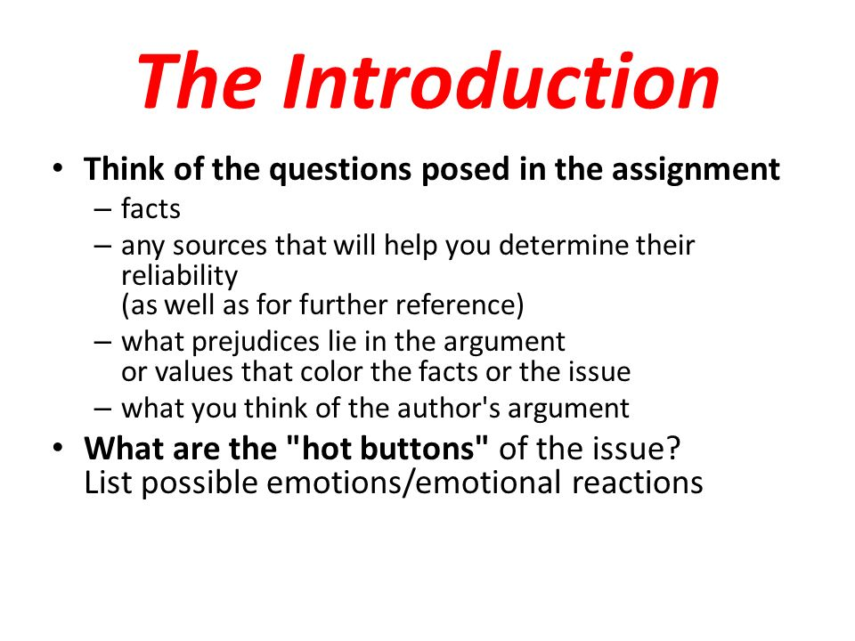 Introduction Of Argumentative Essay