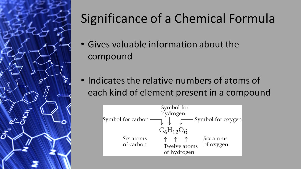 Chemical formulas mrs lee chemical formulas mrs lee ppt download 2 significance of a chemical formula gives valuable information about the compound indicates the relative numbers of atoms of each kind of element present buycottarizona