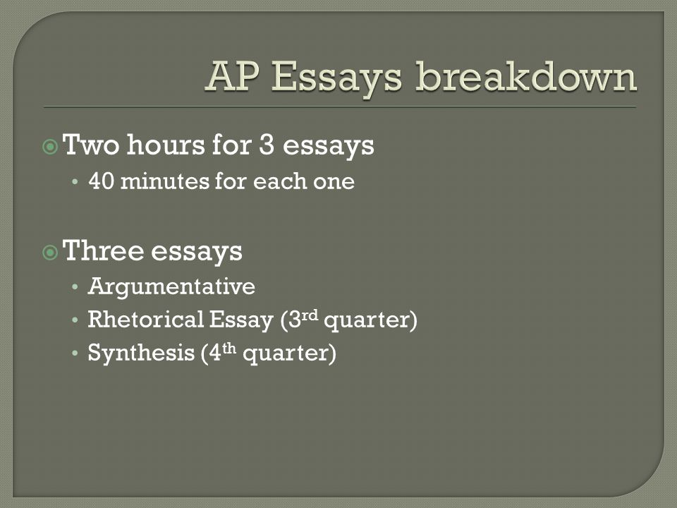 essay breakdown What is an expository essay this can be accomplished through comparison and contrast, definition, example, the analysis of cause and effect, etc.