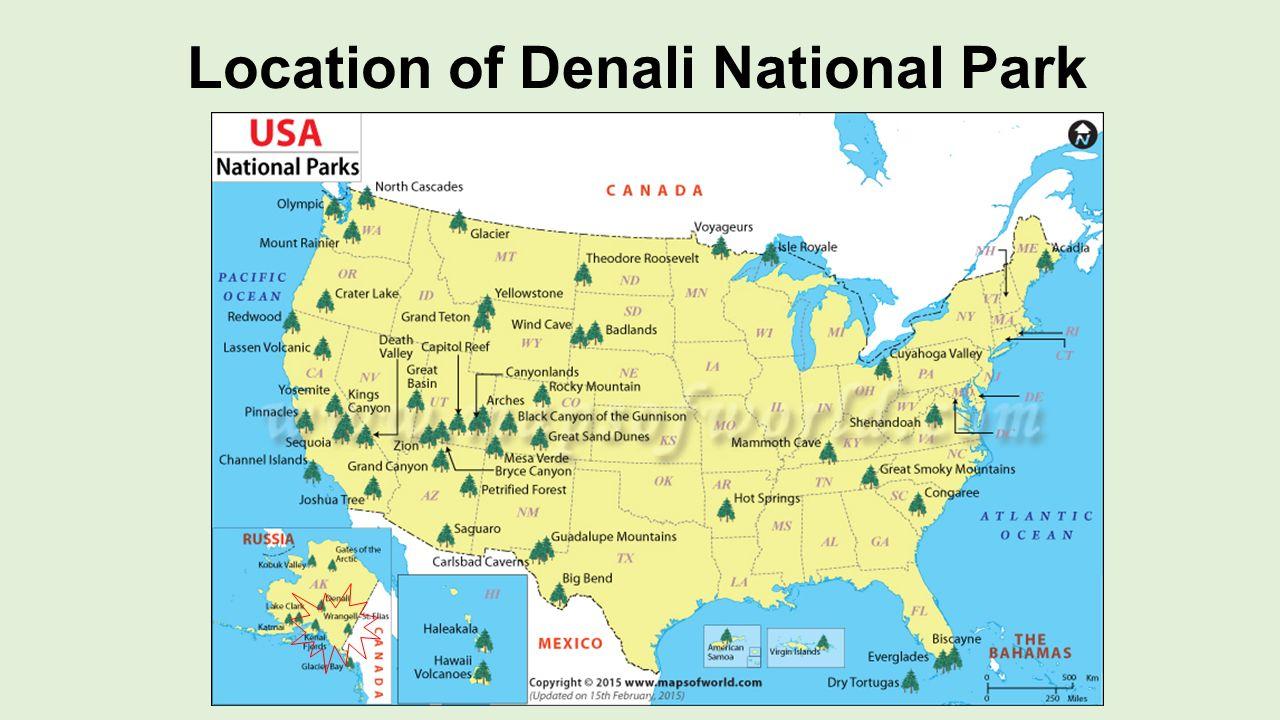 Denali National Park Alaska By John Abraham Relief Map Of Denali - National parks locations map