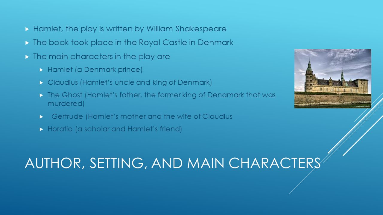 characterization of hamlet in william shakespeares play hamlet English essays: character analysis of prince hamlet in hamlet by william shakespeare and oedipus in oedipus king by sophocles.