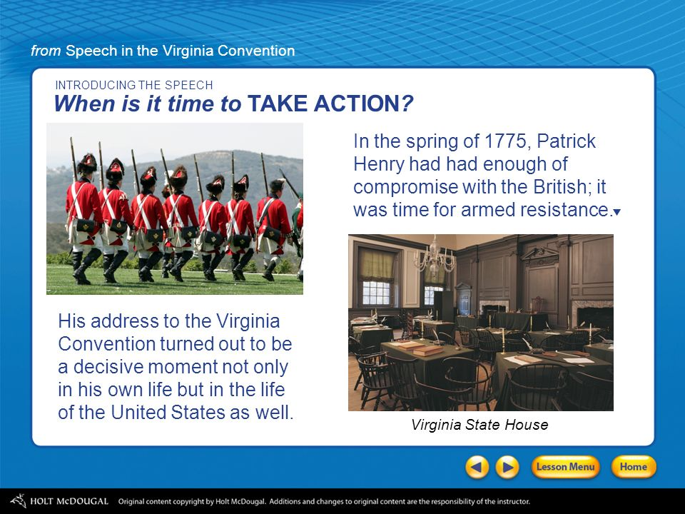 what are the rhetorical devices that patrick henry used in his speech in the virginia convention