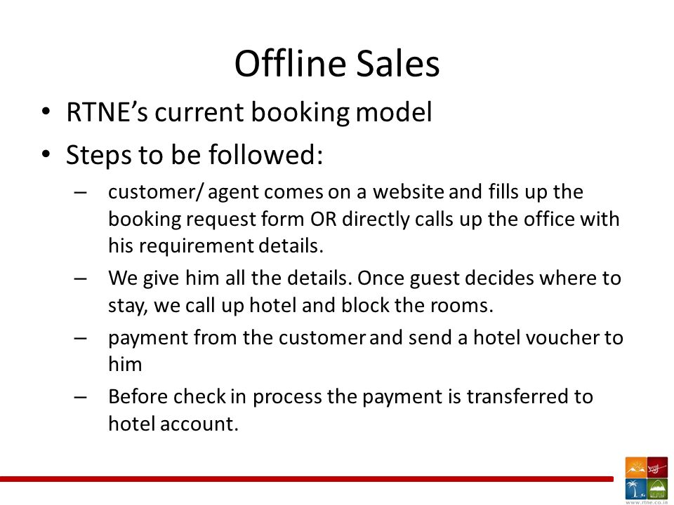 Room booking and allocation hrishikesh wankhede offline sales offline sales rtnes current booking model steps to be followed customer agent comes altavistaventures Choice Image