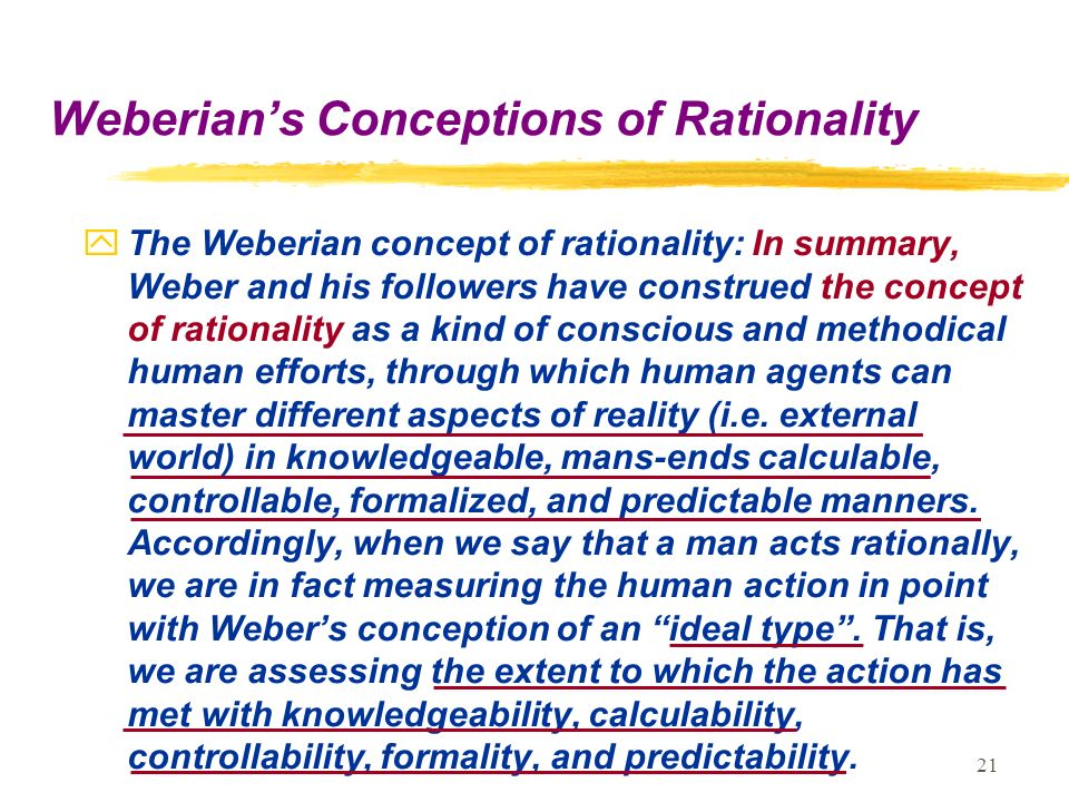 the concept of rationality