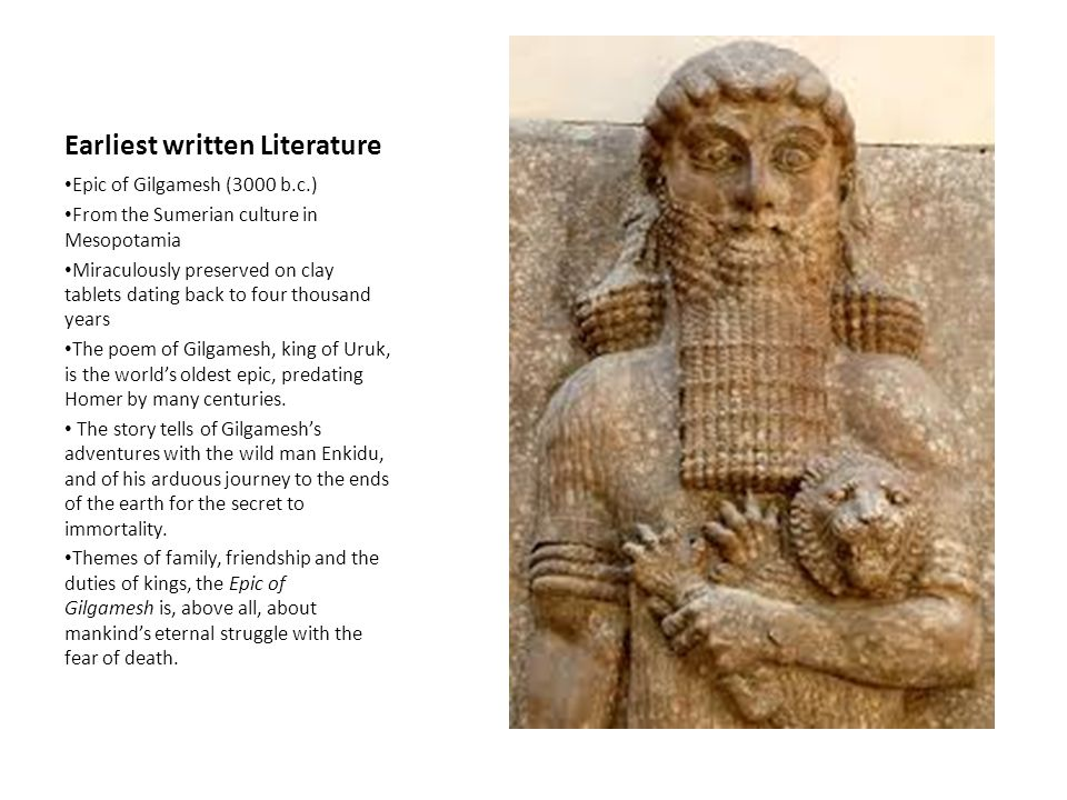 mesopotamia and gilgamesh assignment instructions