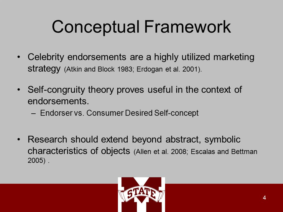 Conceptual Framework Celebrity endorsements are a highly utilized marketing strategy (Atkin and Block 1983; Erdogan et al.