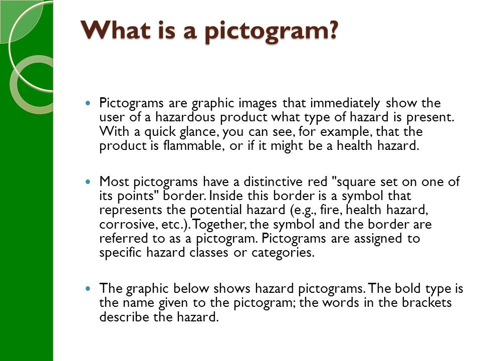 What is a pictogram.