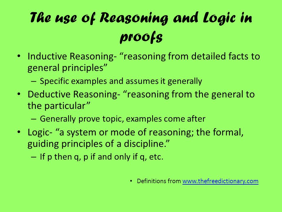 the forms of inductive and deductive reasoning
