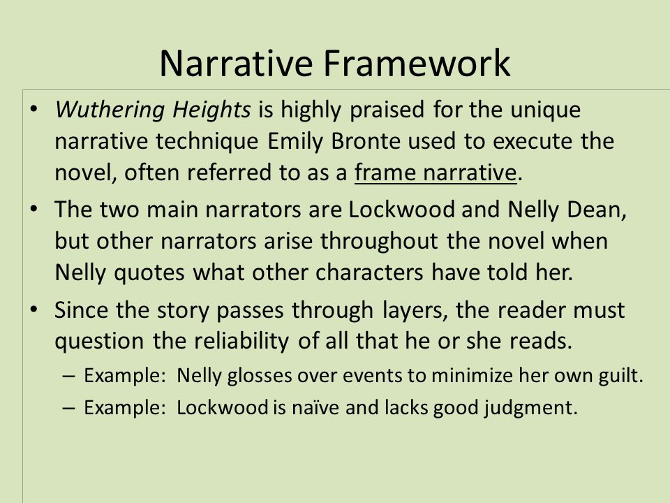 essay narrative structure wuthering heights
