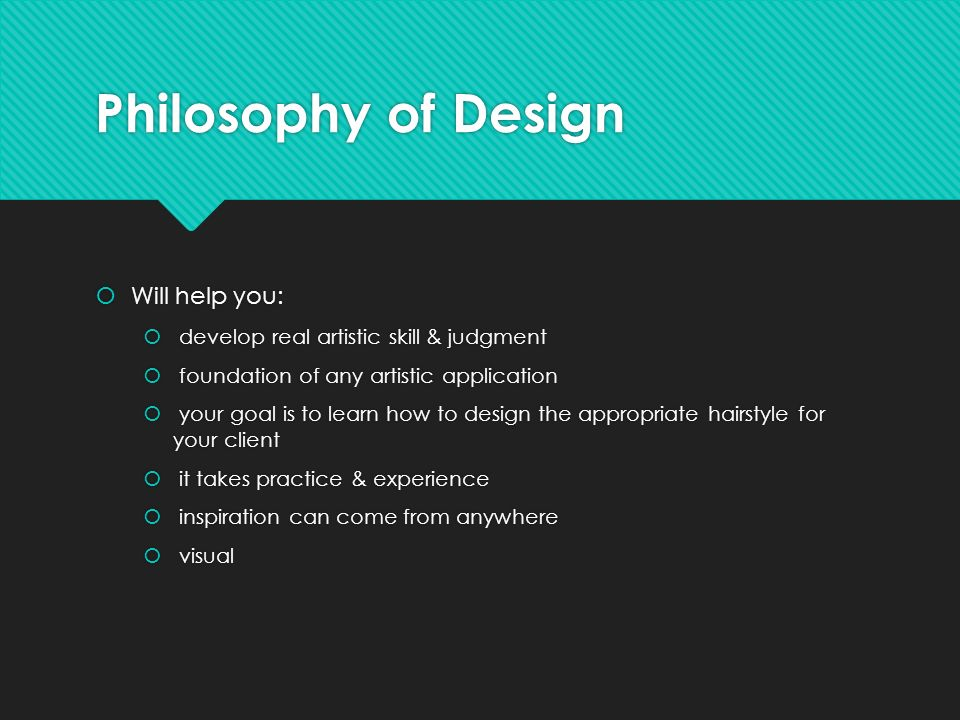 Principles Of Design List : Principles of hair design chapter after completing this