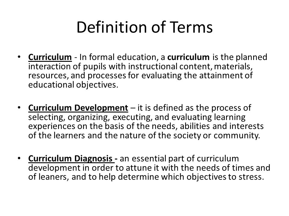 5 Areas to Diagnose Needs in Curriculum Development