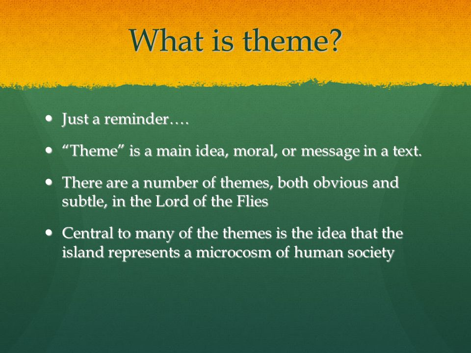 "themes in the lord of the flies william golding on theme ""the  4 what"