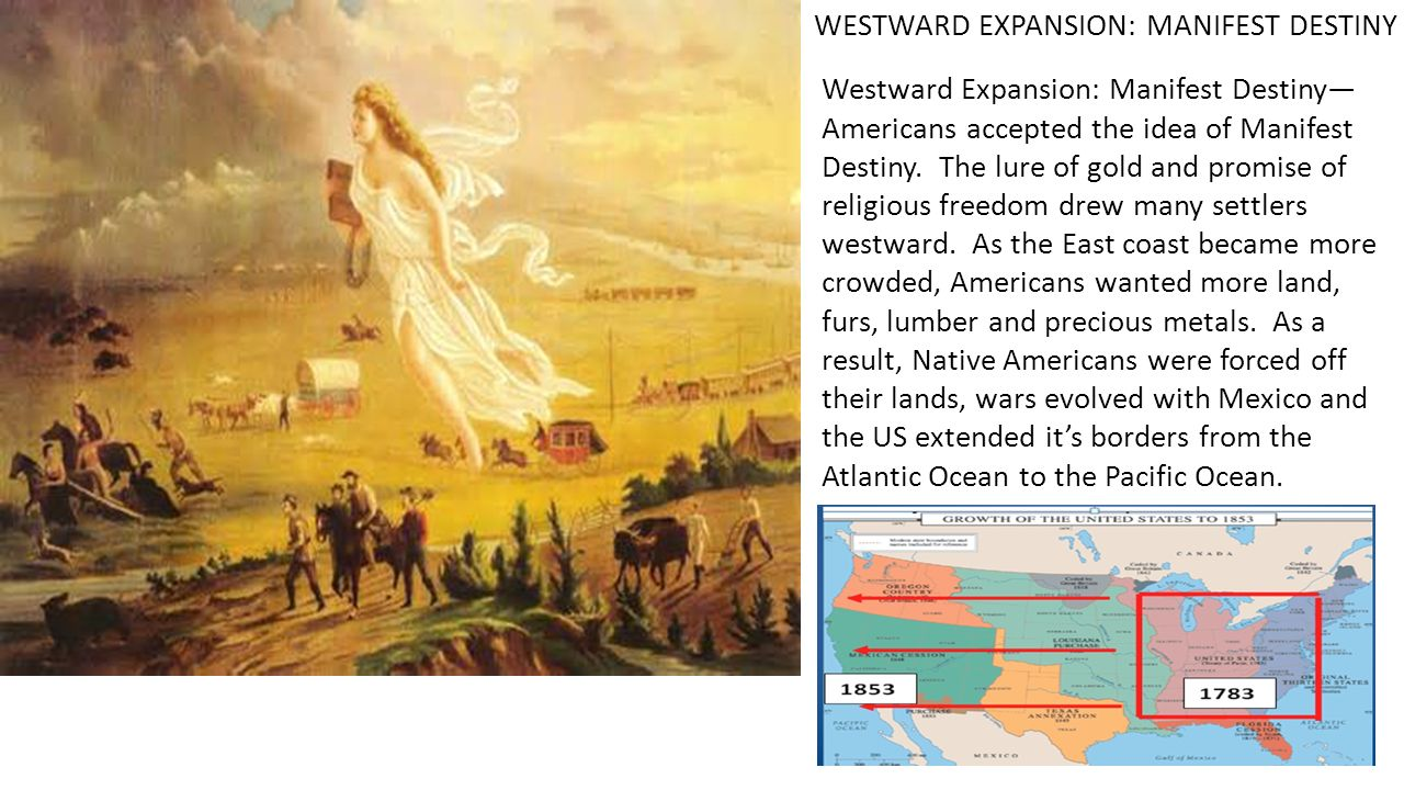the idea of manifest destiny as the basis of the mexican war