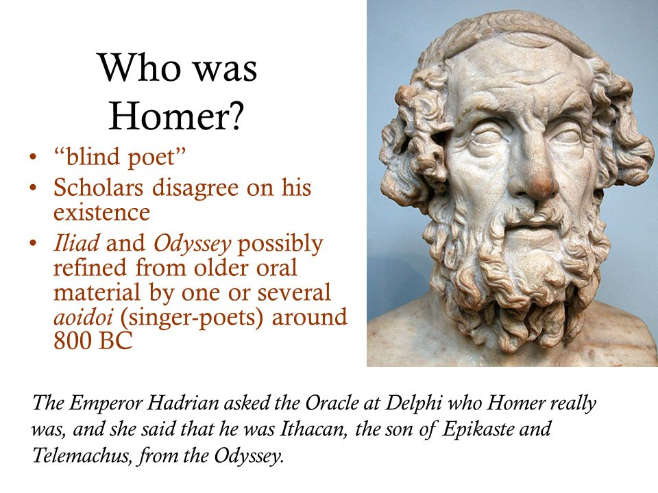 an analysis of the characters in the odyssey an epic poem by homer These papers were written primarily by students and provide critical analysis of the odyssey by homer the odyssey characters throughout the epic poem.