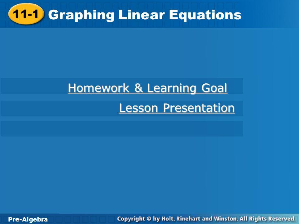 Algebra 1 Graphing Linear Equations - Jennarocca