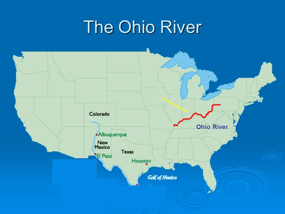 The Ohio River Created By Ms Gates The Ohio River Standard - Ohio river map