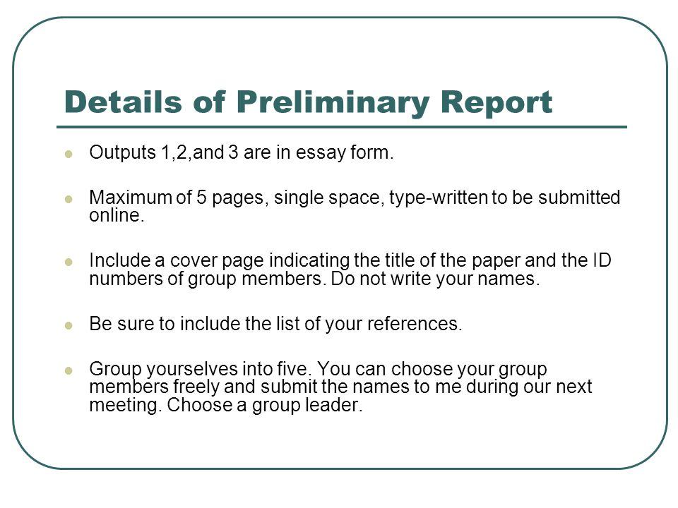 introduction to sociology intsosci l ced th a  details of preliminary report outputs 1 2 and 3 are in essay form