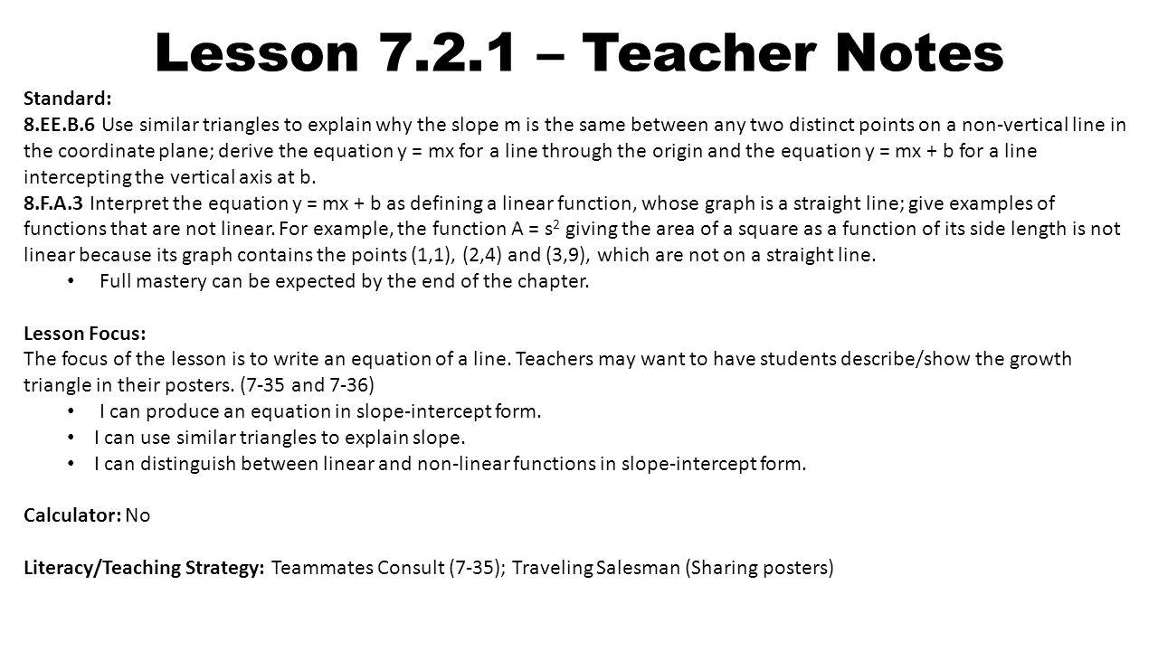 Lesson teacher notes standard 8b6 use similar triangles to lesson 721 teacher notes standard 8b6 falaconquin